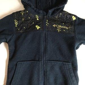 Columbia Blue with yellow design jacket Size 3T